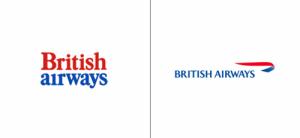 British Airways logo old vs new