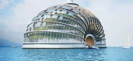 Ark hotel concept – Dome shaped Oasis at sea