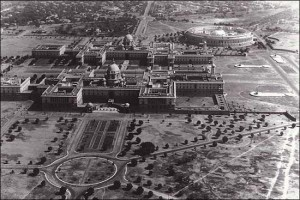 rare view of the President palace in New Delhi