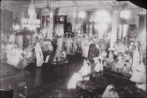 Women gather at a party in Mumbai