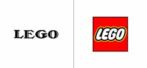 Lego logo old vs new