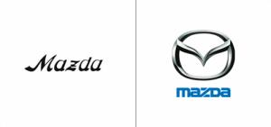 Mazda logo old vs new