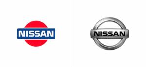 Nissan logo old vs new