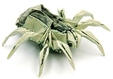 Money Origami - Two Dollars Spider