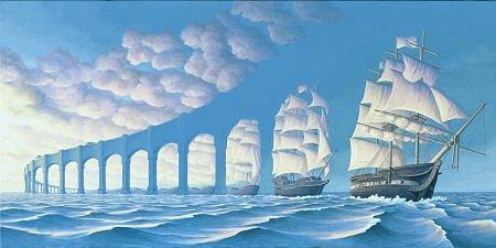 illusion ships or pillars