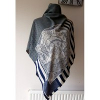 Neil Bottle With His Unusual Contrasting Style Silk Scarf