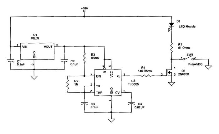 Schematic for Modulated 24 LED Wand by Walter A Cooke