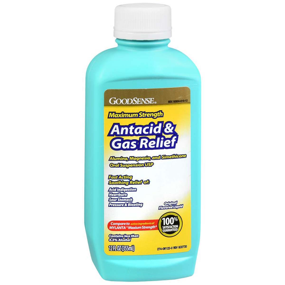 Mylanta Comparable Fast Acting Liquid Antacid 12 FL OZ