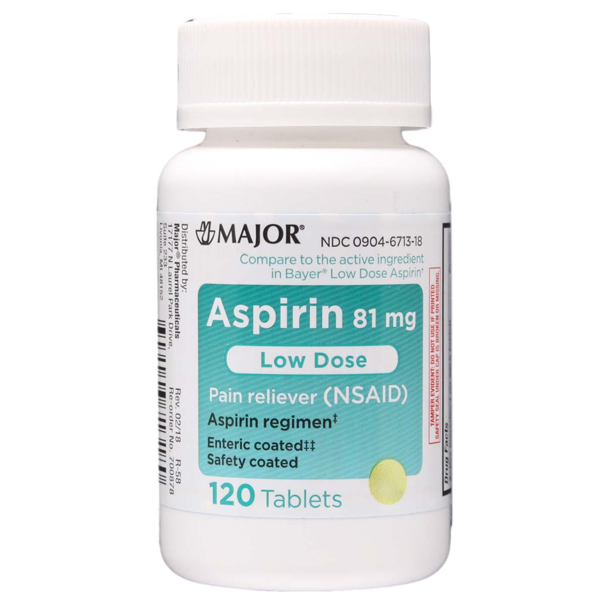 Aspir Low | Low Dose Aspirin 81 mg | Enteric Coated - Qty ...