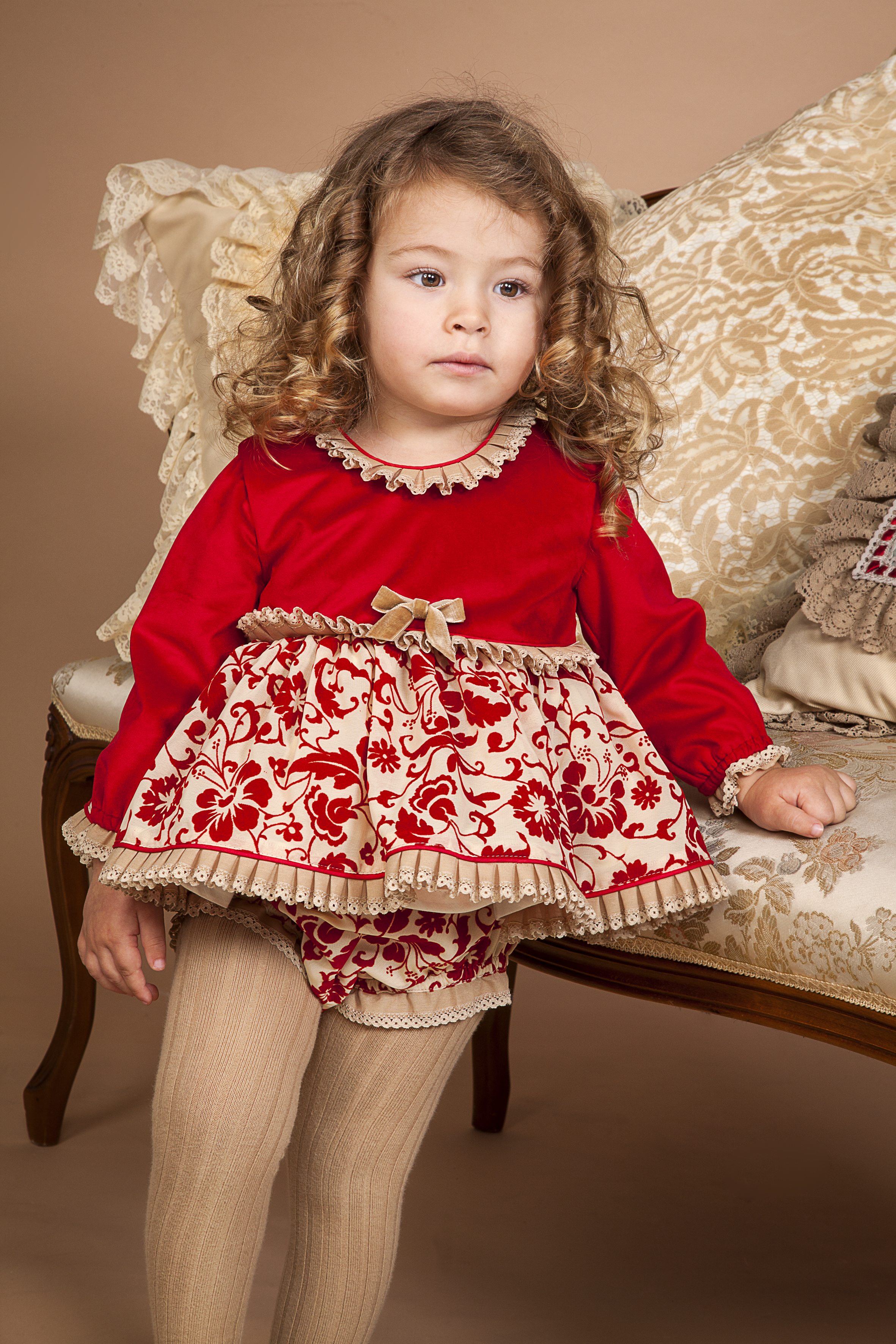 Baby Girls Rubi Baby Dress With Bloomers By Bea Cadillac
