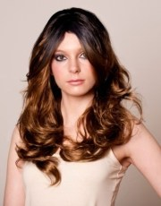 black brown dip dye wig stunning