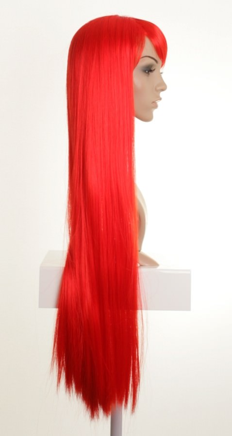 Fizz Extra Long Bright Red Straight Cosplay Wig