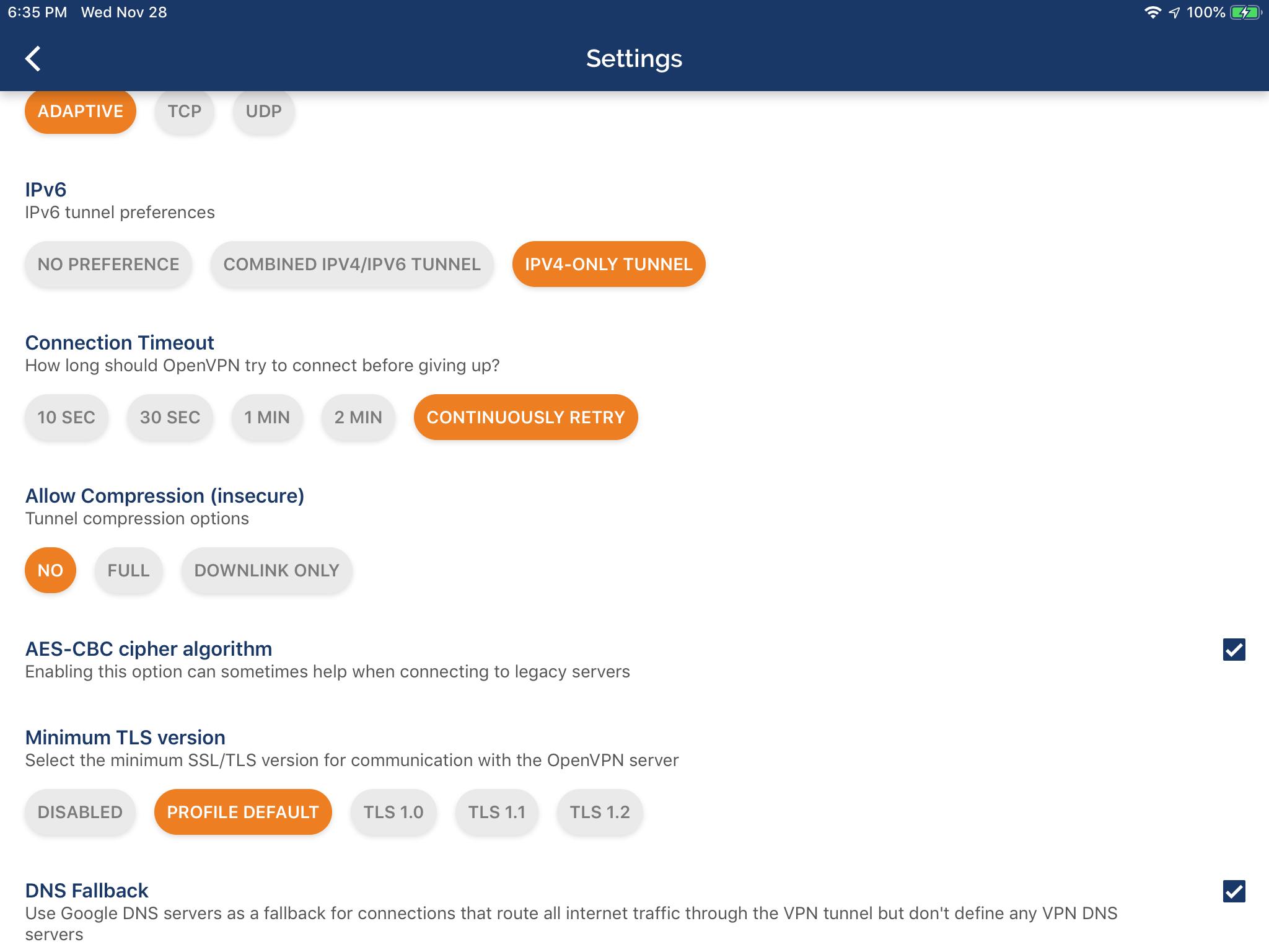 OpenVPN on IOS 12 x fails to Connect to PiVPN | Wondernerd net
