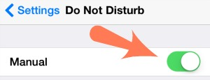 Do Not Disturb Activation Settings
