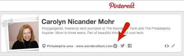 Pinterest Verified Site