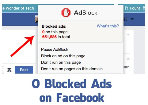 Ad Blockers Ineffective on Facebook