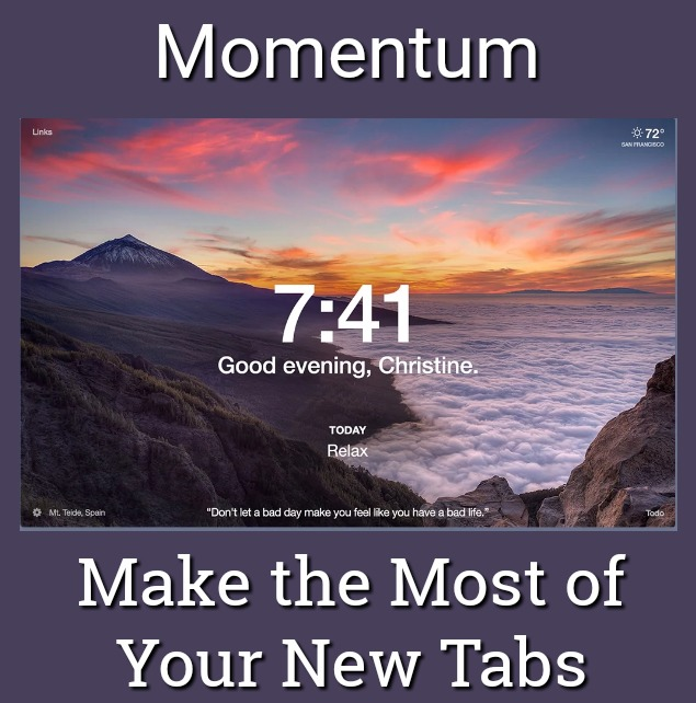 Momentum Lets You Make the Most of Your New Tabs