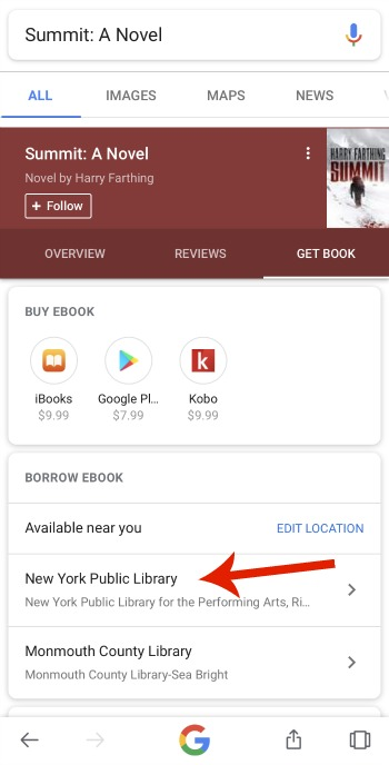 Google Search Now Tells You Which Ebooks Are Available at