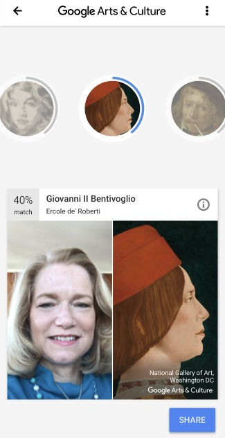Google Arts & Culture Face Match Fail