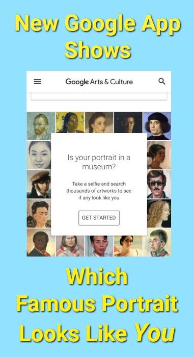 Google App Arts & Culture Face Match