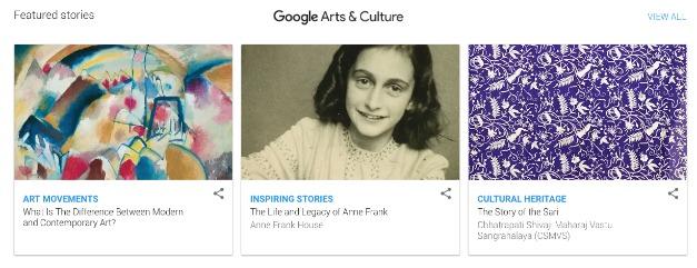 Google Arts & Culture Website