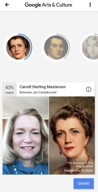 Google Match Portraits