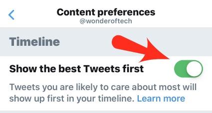 Twitter App Settings Content
