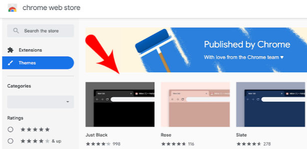 Dark Themes Chrome Browser.