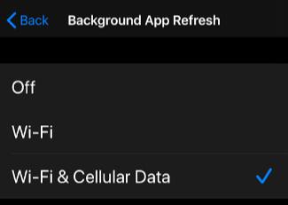 Background App Refresh Off