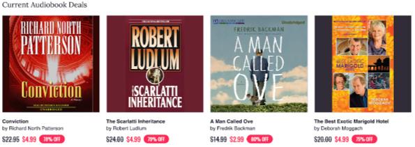 Deals on Audiobooks Chirp