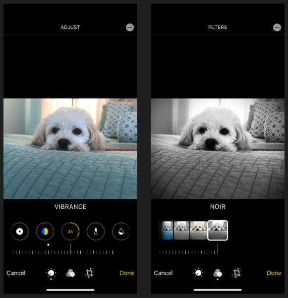 iOS 13 Photos App Editing