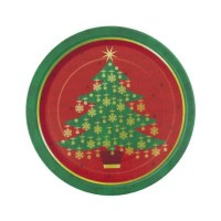 Christmas Party Supplies - Christmas Tree Dinner Plates