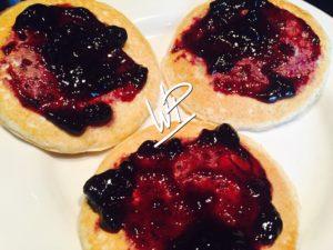 Pancakes a la confiture