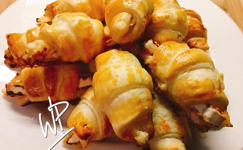 Minis croissants apéro chèvre miel