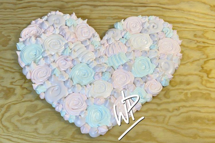 Coeur de meringue heart meringue