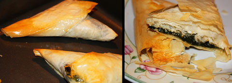 Yummy Scrumboes: Flaky + Fabulous Phyllo-dough Spinach Triangles