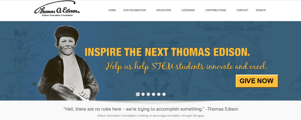 ThomasEdison.org Promotional Banner Images