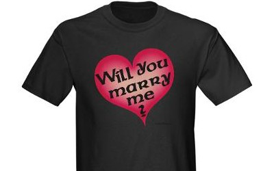 will you marry me on tshirt