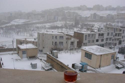 Polluted city Sanandaj, Iran