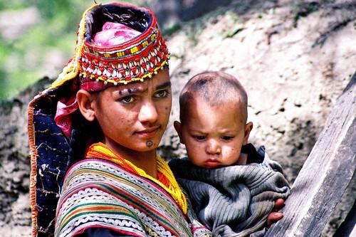 Kalash Mother, Northwest Frontier Province, Pakistan