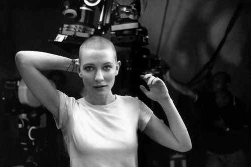 Cate Blanchett with shaved heads