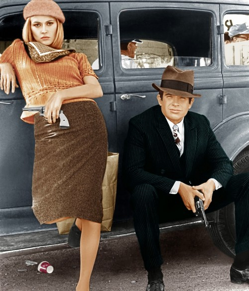 BONNIE AND CLYDE, from left: Faye Dunaway, Warren Beatty, 1967