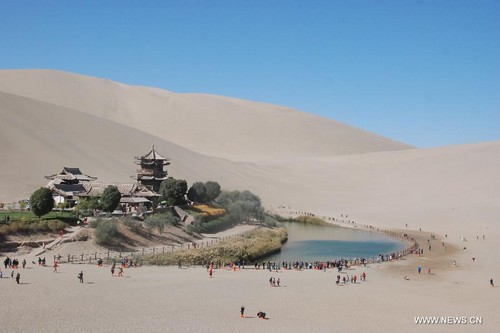 Crescent Lake, China