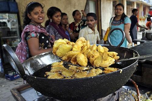 Food Street in Calcutta, India