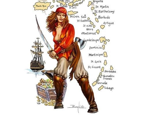 Irish pirate Anne Bonny