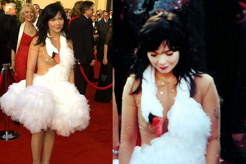 Björk and the Swan Dress