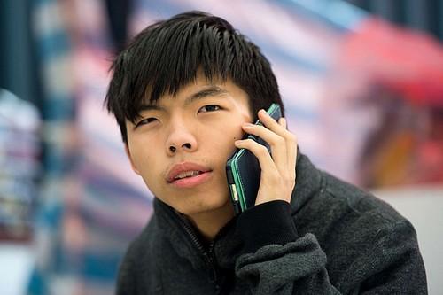 Joshua Wong teenage face of Hong Kong