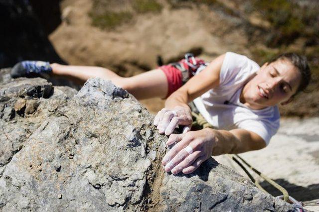 Wall climbing to lose body fats