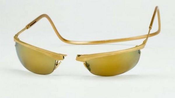 Clic Gold 18k Gold Sports Sunglass