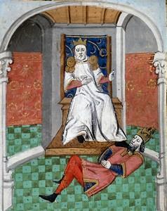 Alp Arslan humiliating Emperor Romanos IV.